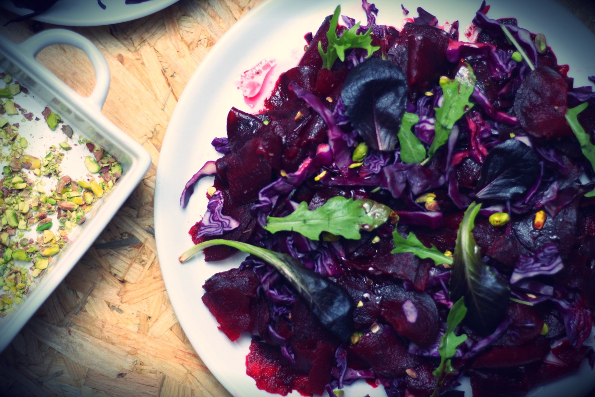 Salade chou betterave
